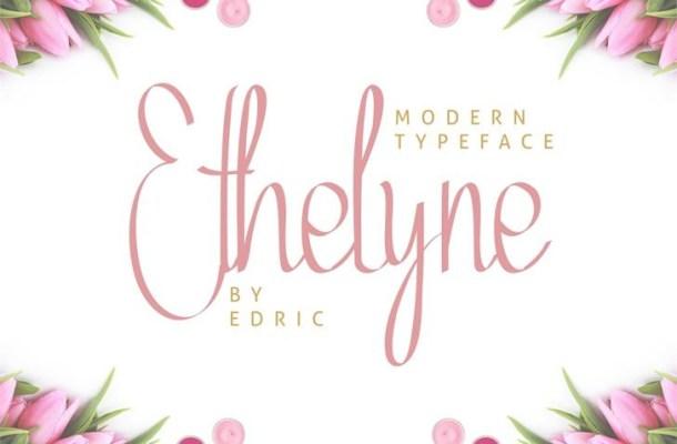 Ethelyne Calligraphy Font