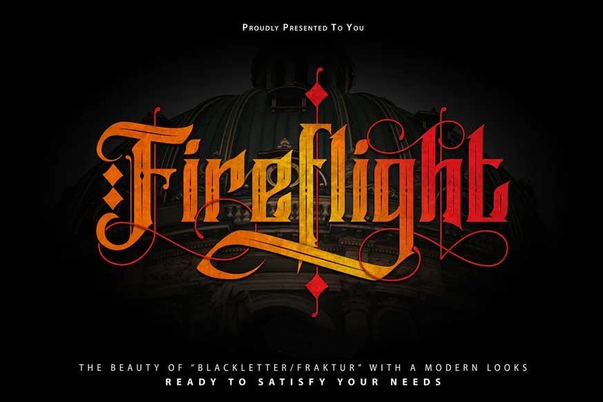 FireFlight-Blackletter-Modern-Font