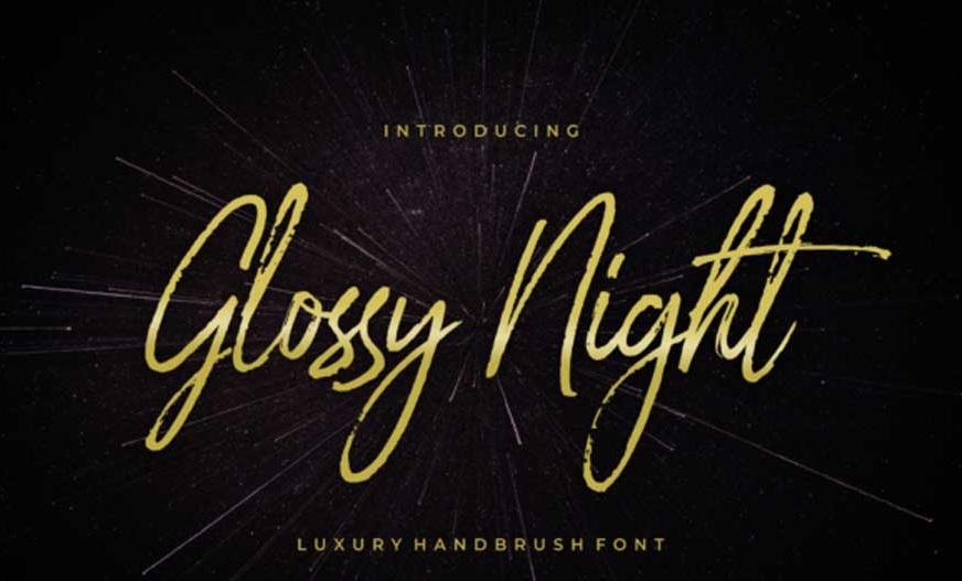 Glossy Night Font-1
