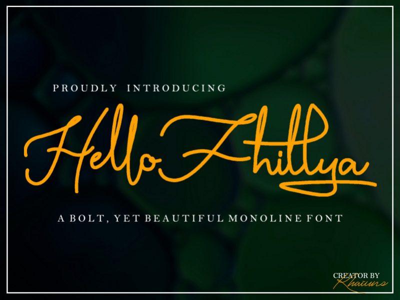 Hello Fhillya Script Font-1