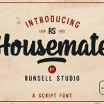 Housemate Vintage Script Font