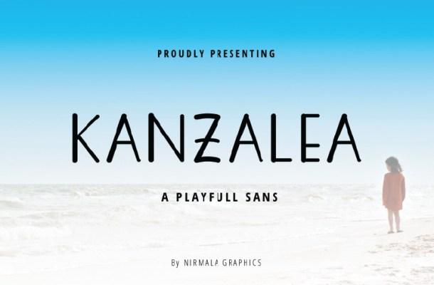 KANZALEA Handwritten Font