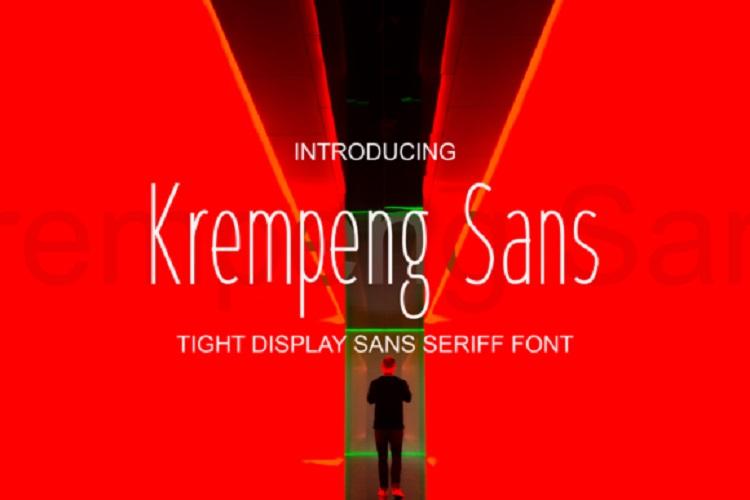 Krempeng Sans Font - Dafont Free