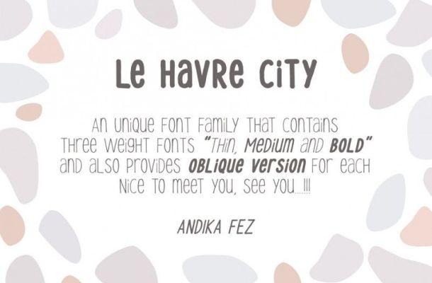 Le Havre City Font Family
