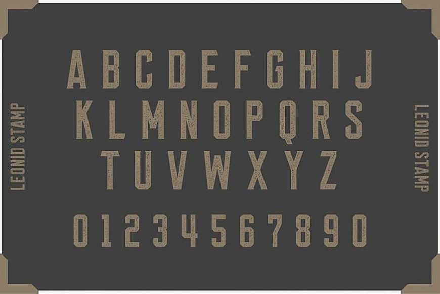 Leonid Retro Layered Font Pack-4