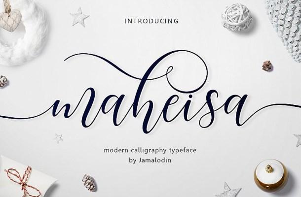 Maheisa Script Font