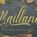 Maillane Calligraphy Font