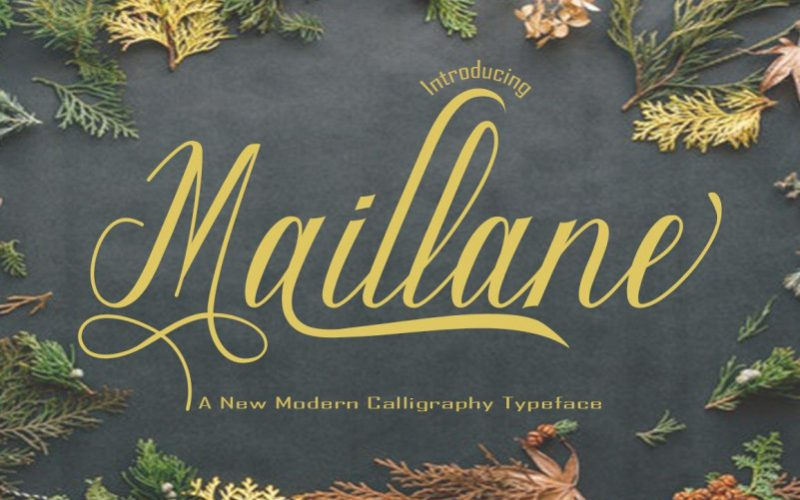 Maillane Calligraphy Font-1
