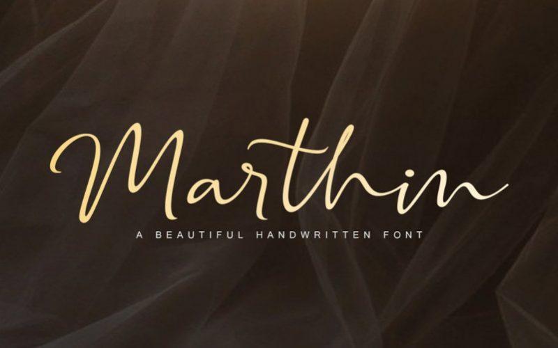 Marthin Calligraphy Font-1