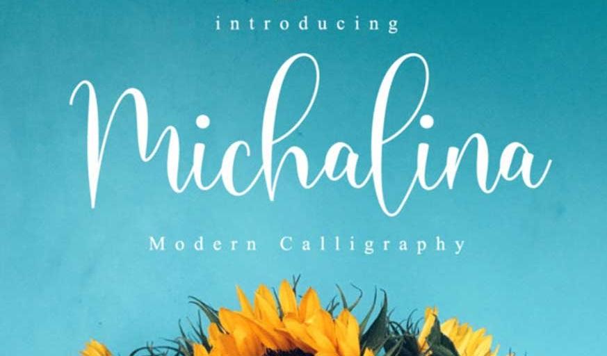 Michalina Script Font-1