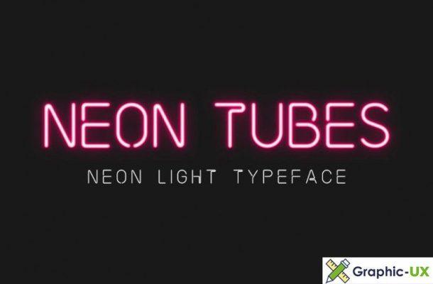 Neon Tubes Light Font