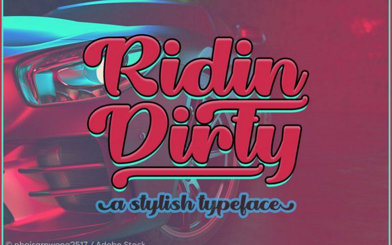 Ridin Dirty Handwritten Font-1