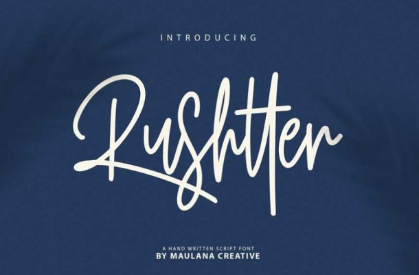 Rushtter Signature Font