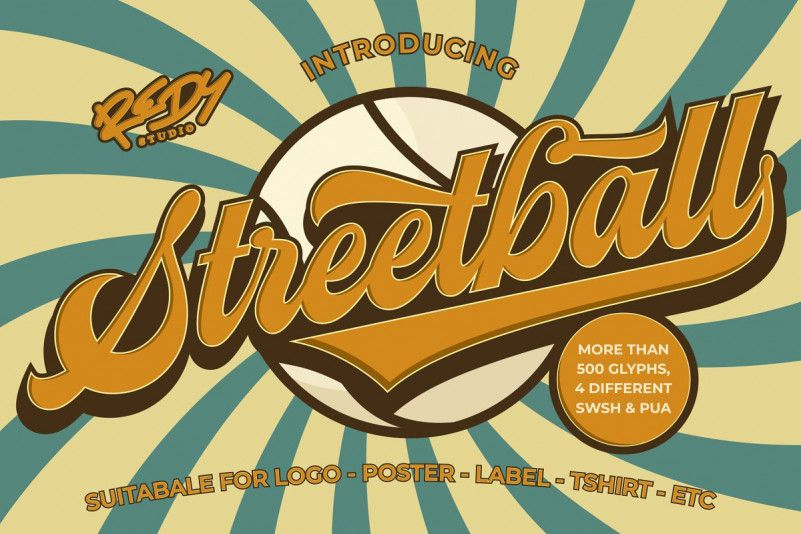 Streetball Vintage Font-1