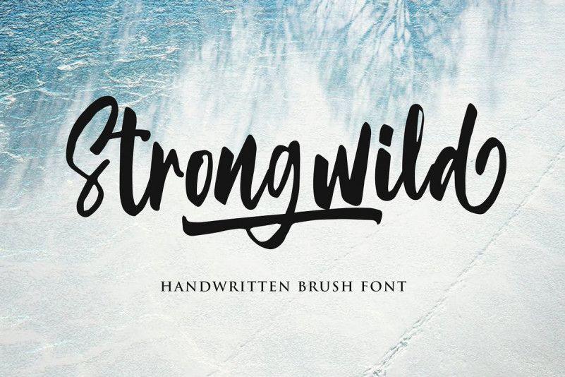 Strongwild Brush Font-1