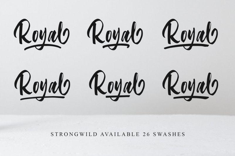 Strongwild Brush Font-2