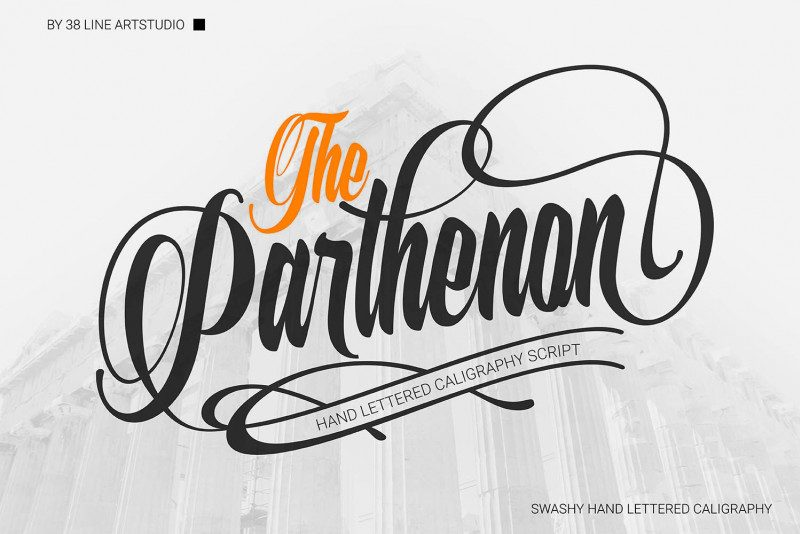 The Parthenon Font-1