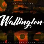 Wallington Hand Lettering Brush Font