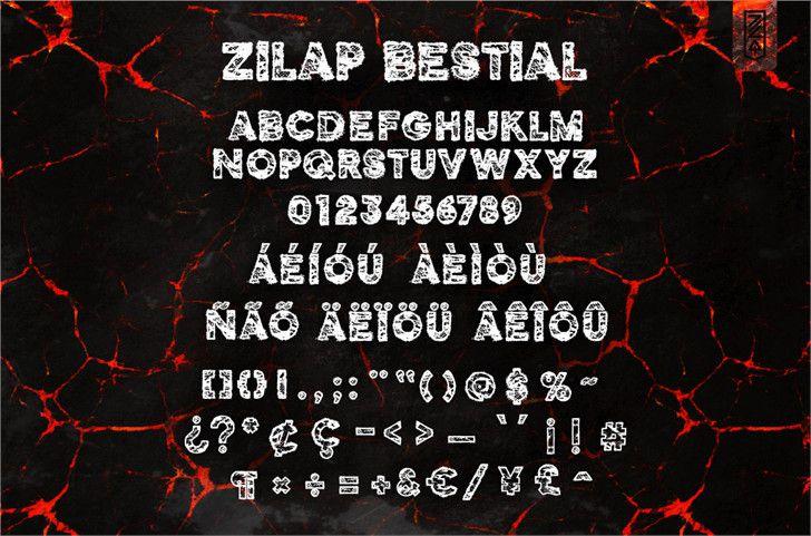 Zilap Bestial Font-2
