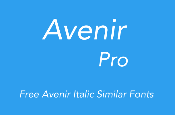 Avenir Italic Free Alternatives