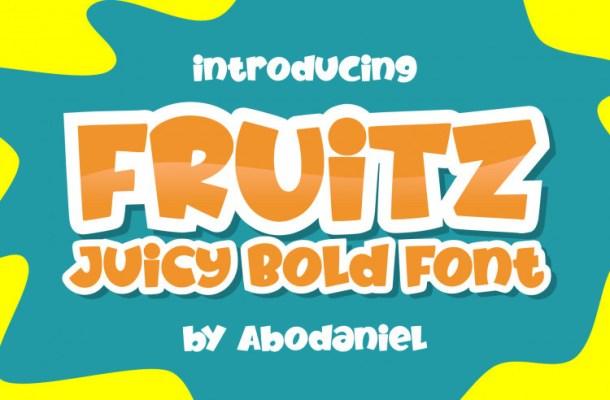 Fruitz Juicy Bold Script Font