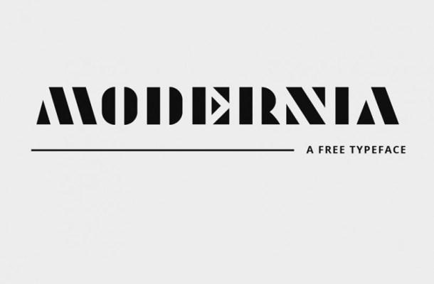 Modernia Typeface
