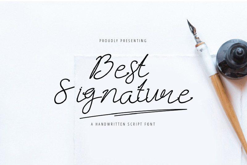 Best Signature Font-1