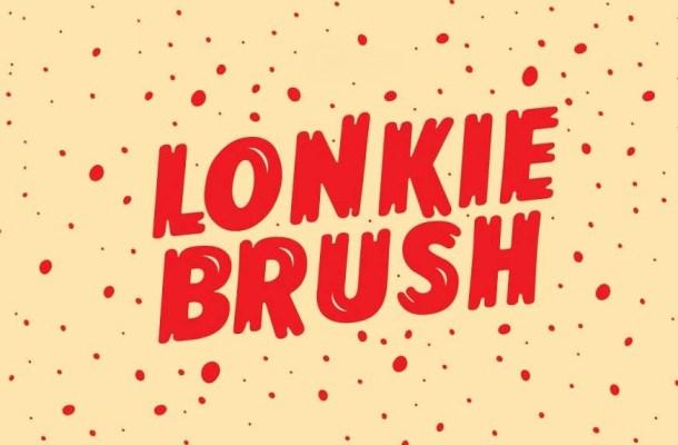Lonkie Brush Font Family