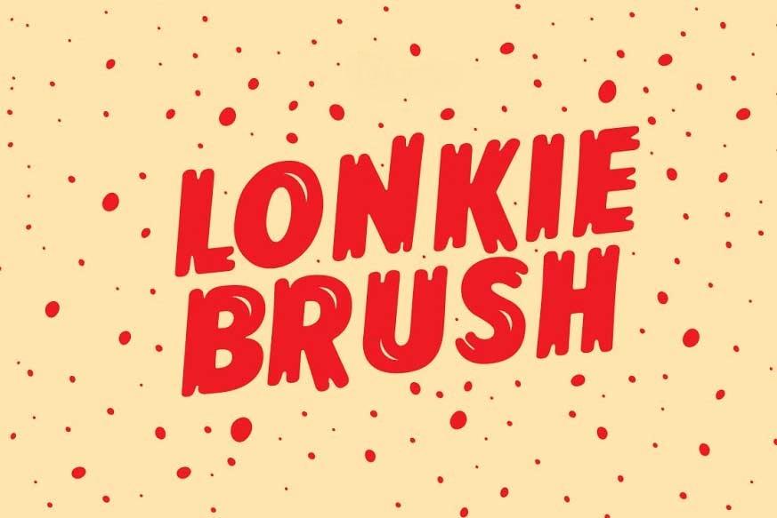 Lonkie-Brush-font