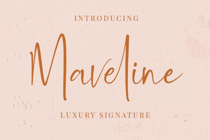 Maveline Luxury Signature Font-1