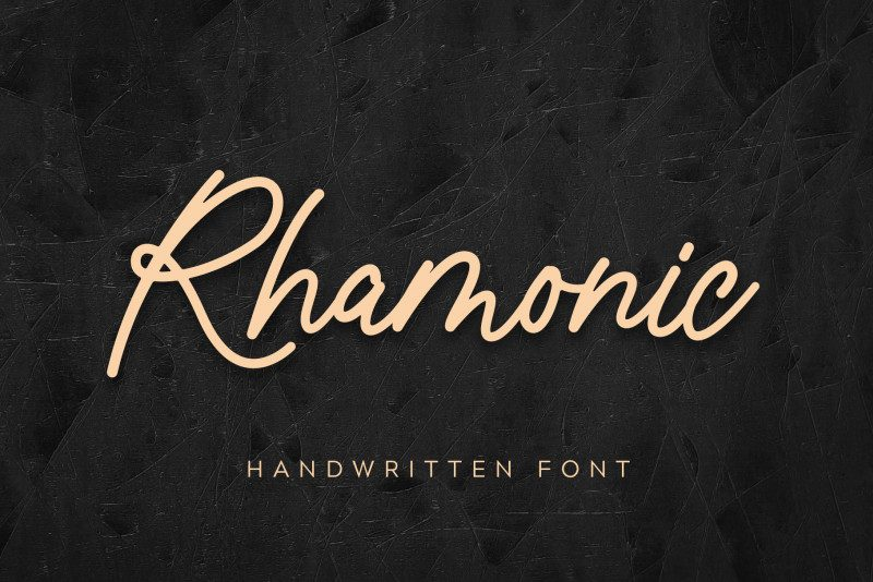 Rhamonic Handwritten Font-1