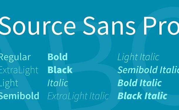 Source Sans Pro Font Family