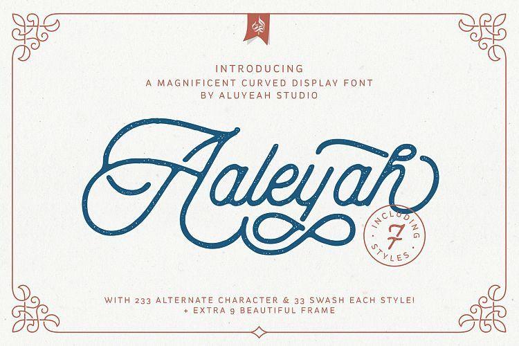 aaleyah-monoline-script-font