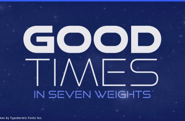 Good Times Font Family (Free 1 Type)
