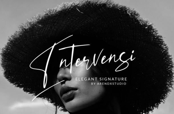 Intervensi Signature Font