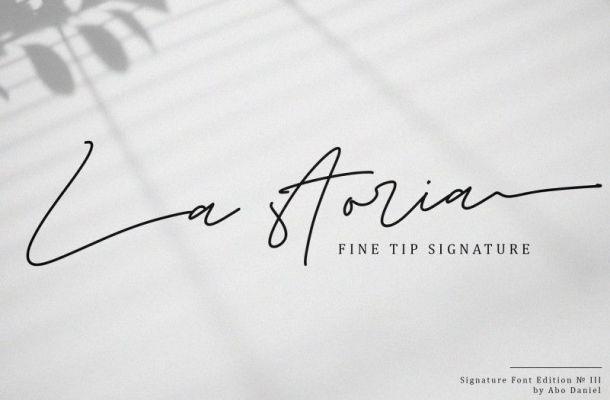 La storia Signature Font
