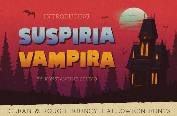 Suspiria Vampira Display Font