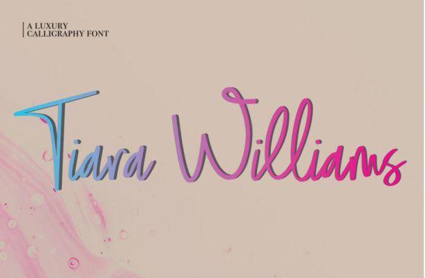 Tiara Williams Font