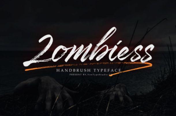 Zombiess Brush Font