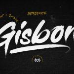 Gisbon Brush Font