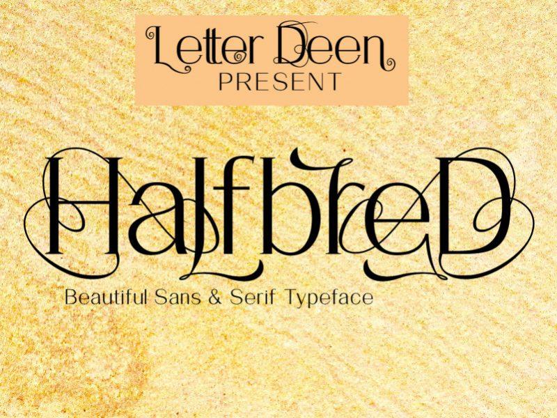 HalfbreD Font-1