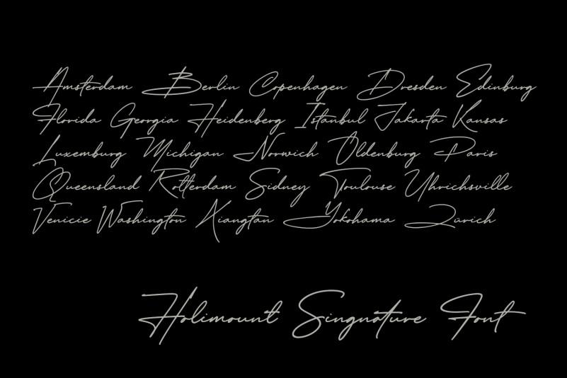 Holimount Handwritten Font-3