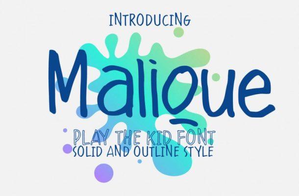 Malique Script Font