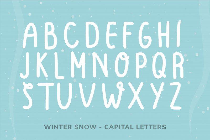 Winter Snow Font-3