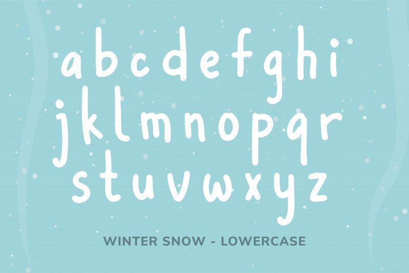Winter Snow Font-4