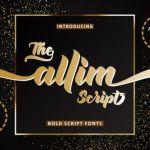 Allim Bold Script Font