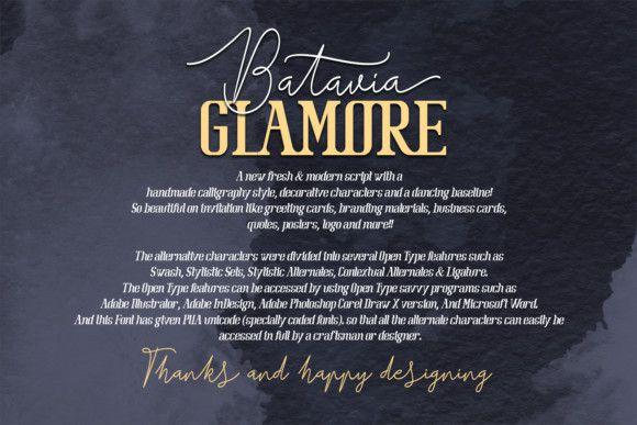 Batavia Glamore Font Duo