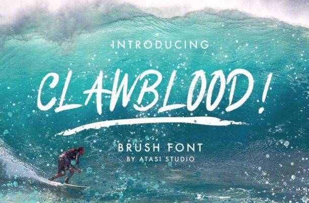 Clawblood Font