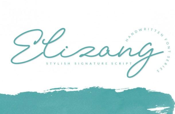 Elizany Signature Font