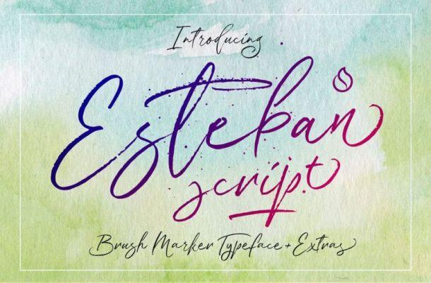 Esteban Script Font